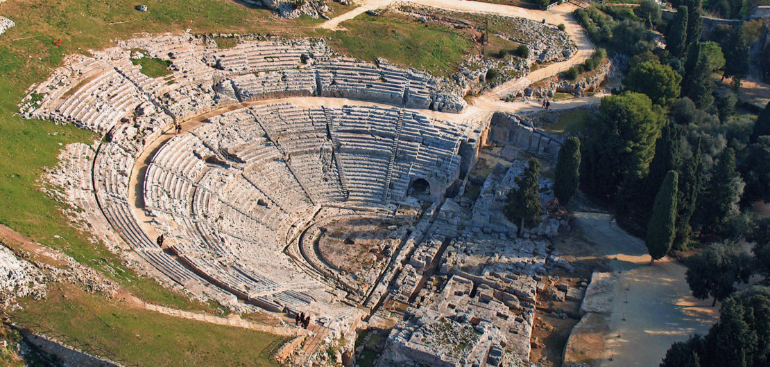The greek theater of Syracuse